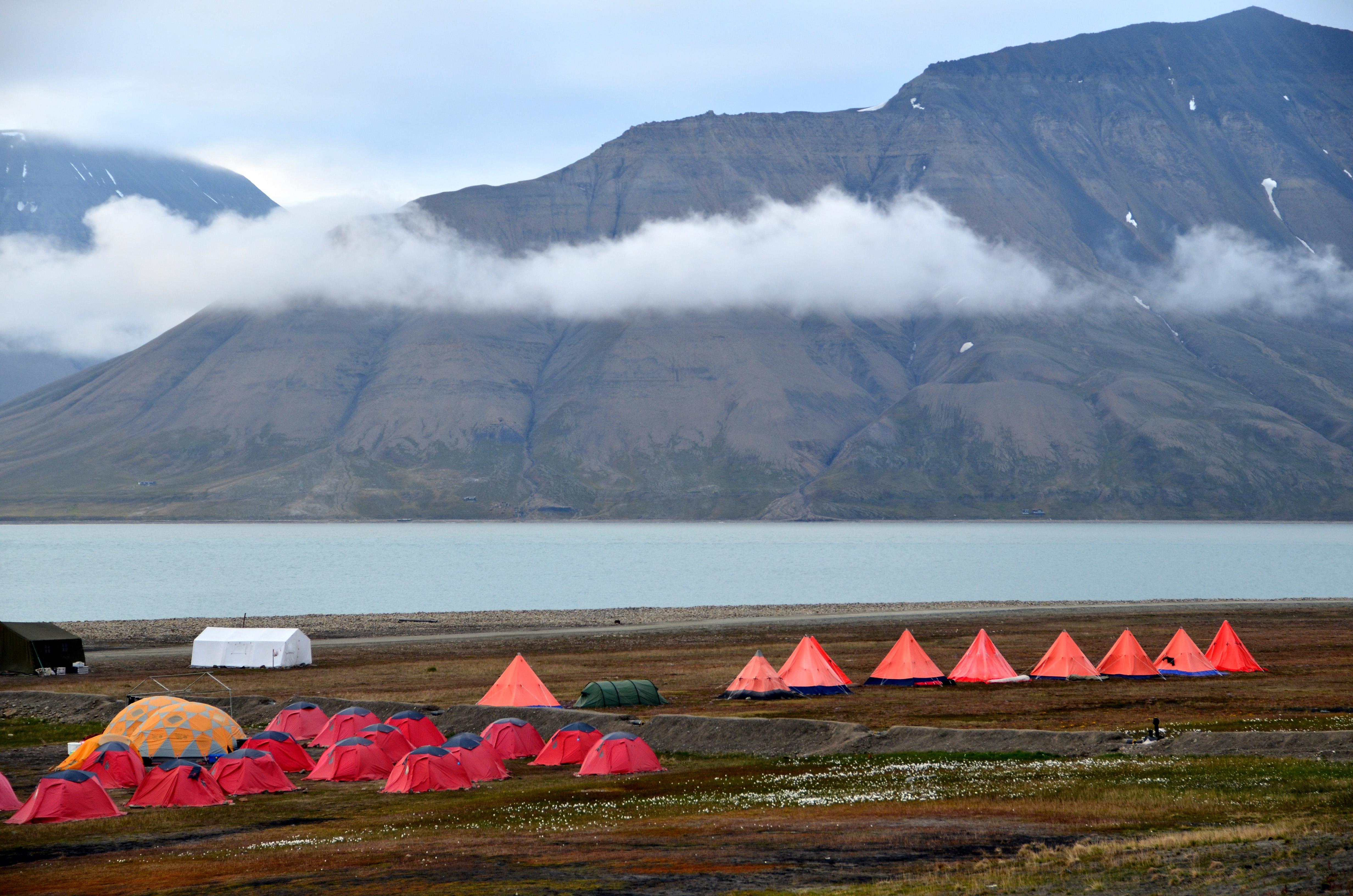 Camping na Spitsbergenie