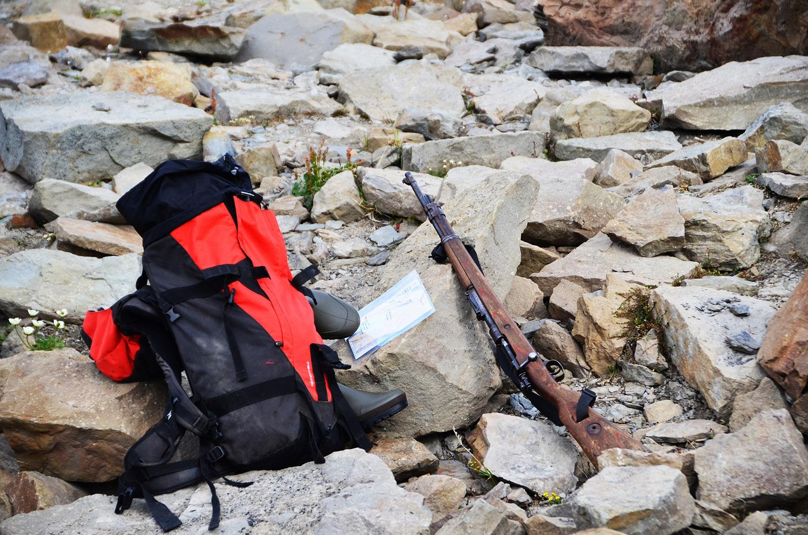 Wygodny plecak i broń to podstawowy ekwipunek na Svalbardzie