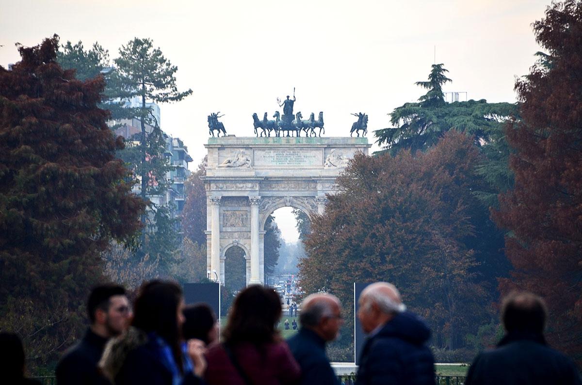 Arco della Pace w Mediolanie