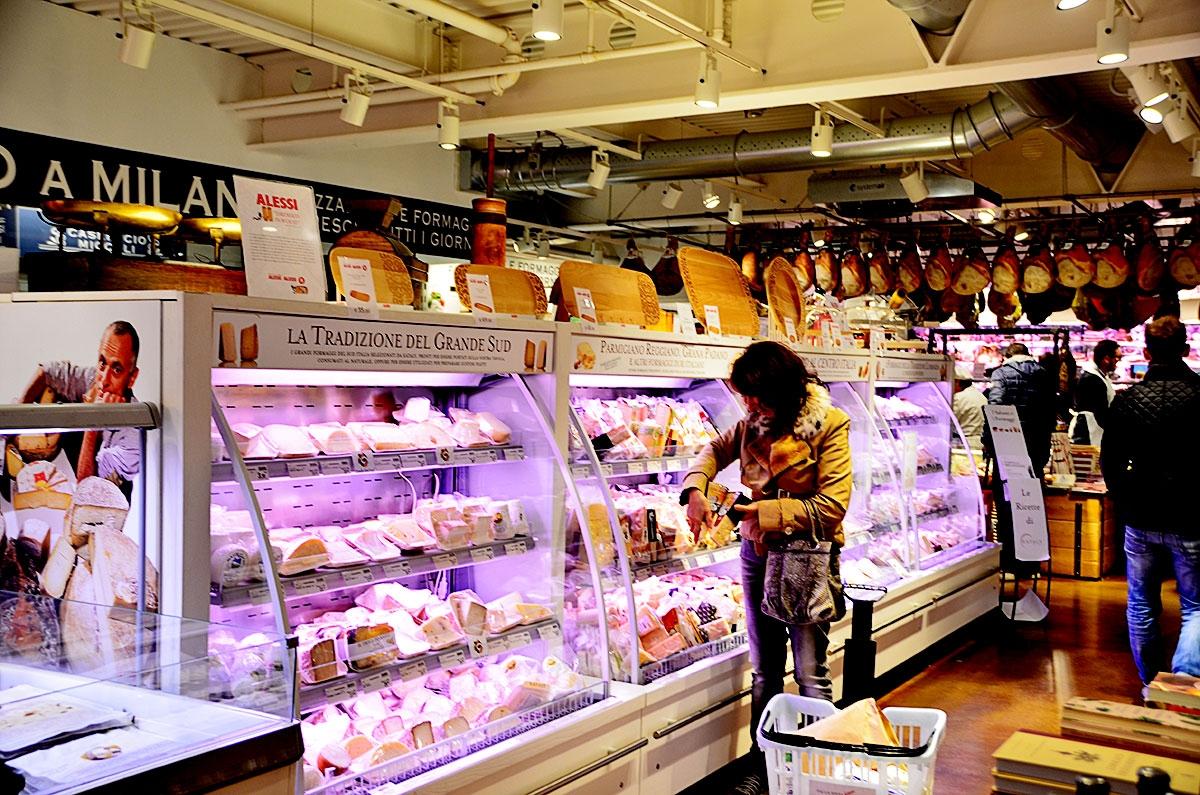 Dział serów w Eataly